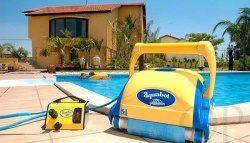 Лучшие роботы-пылесосы для бассейна фирмы Aquatron: рассмотрим модели Pool-Rover, AquaBot Viva, Aquabot Bravo, Aquatron Ultramax